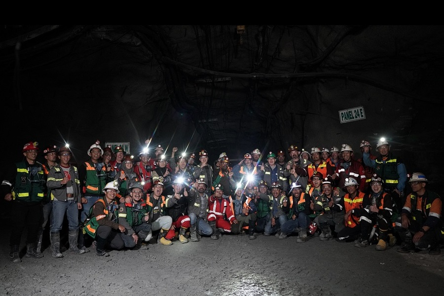 First Drawbell Blast at PTFI's Grasberg Block Cave