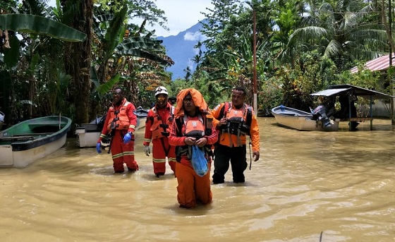 PTFI EPR team in the Sentani flash flood humanitarian mission